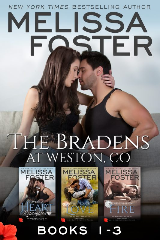 The Bradens (Books 1-3 Boxed Set) including Lovers at Heart, Reimagined
