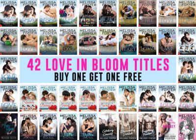 42 Love in Bloom titles, buy one get one free